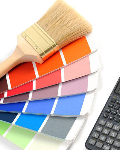 Painting guide for interior exterior surfaces cm for House paint calculator